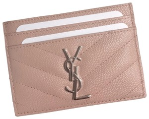 a7cf0dafca7 Saint Laurent Pale Pink New Ysl Card Holder - Wallet - Tradesy
