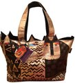 Laurel Burch Tote in Shiny Gold/Black