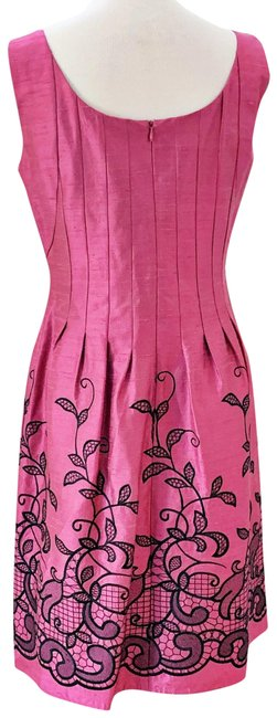 Preload https://img-static.tradesy.com/item/25486807/kay-unger-pink-hot-embroidered-mid-length-cocktail-dress-size-6-s-0-1-650-650.jpg