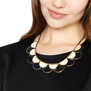 Kate Spade Kate Spade Sweetheart Scallop Necklace NWT Black & Cream