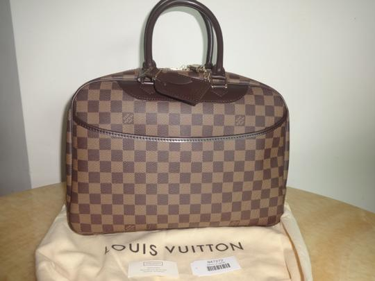 Louis Vuitton Damier Deauville Tote in Brown Image 1