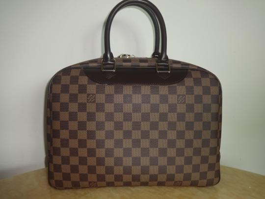 Louis Vuitton Damier Deauville Tote in Brown Image 2