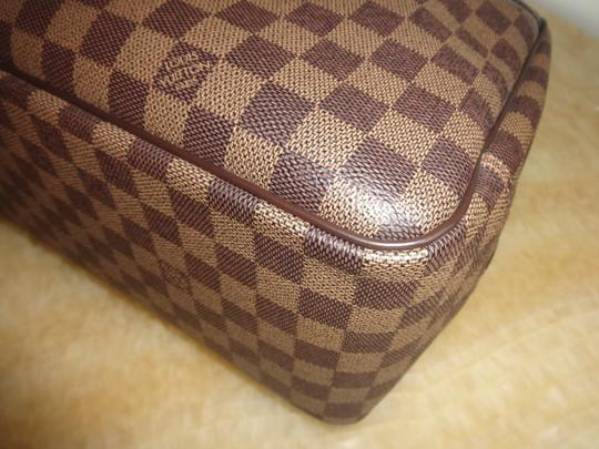 Louis Vuitton Damier Deauville Tote in Brown Image 5