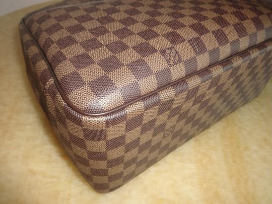 Louis Vuitton Damier Deauville Tote in Brown Image 6