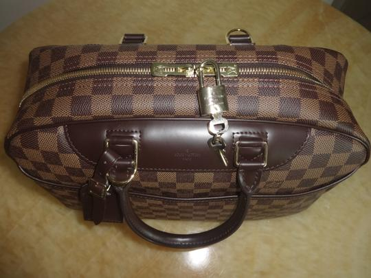 Louis Vuitton Damier Deauville Tote in Brown Image 8