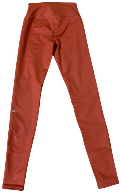 Item - Burnt Orange Yoga High-waist Airbrush Activewear Bottoms Size 4 (S)