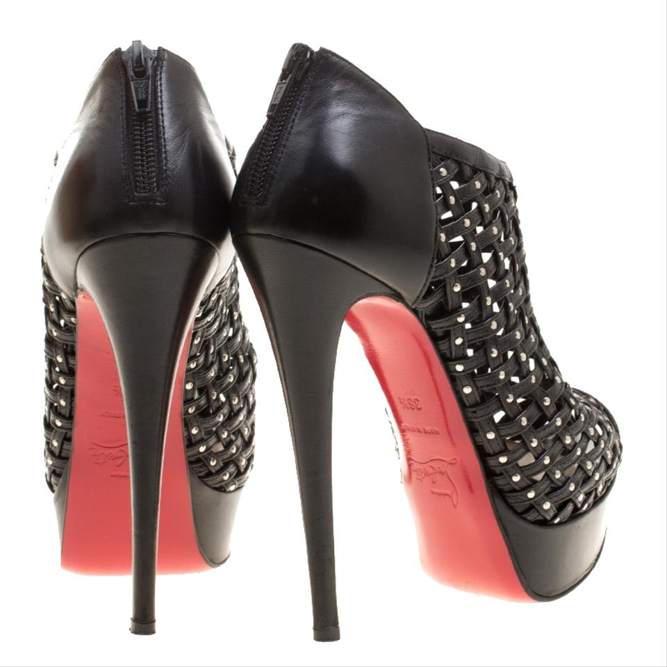 5c84af206b6 Christian Louboutin Black Leather Kasha Caged Boots/Booties Size EU 36.5  (Approx. US 6.5) Regular (M, B)