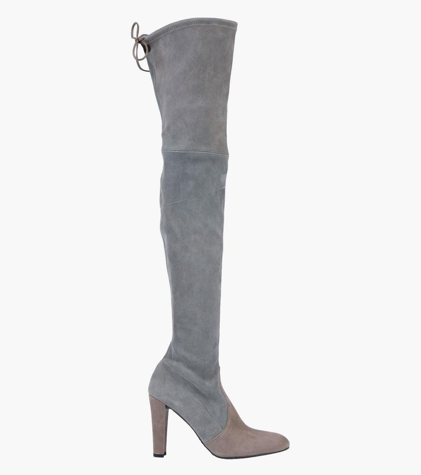 fd7600fae Stuart Weitzman Over The Knee Highland Gray Two Tone Boots Image 0 ...