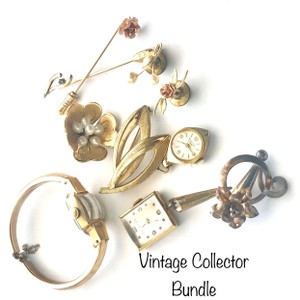 Unique Vintage Gold Watch Brooch Pin Collection