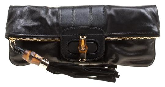 Preload https://img-static.tradesy.com/item/25487547/gucci-bamboo-detail-tassel-lucy-fold-over-black-leather-clutch-0-1-540-540.jpg