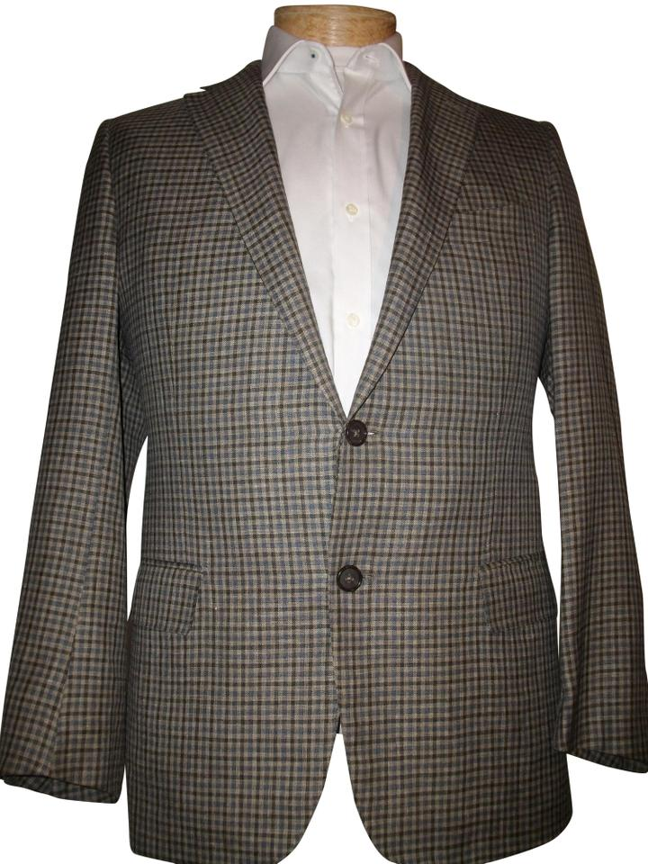 e3ad8e2e Ermenegildo Zegna Multi-colored Check Men's Italian Made Linen/Wool/Silk  Blazer 40 Jacket Size 6 (S) 83% off retail