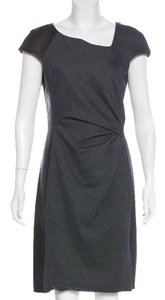 J. Mendel Leather Wool Chic Classic Structured Dress
