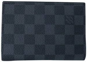 Louis Vuitton Black Damier Graphite Passport Cover Wallet