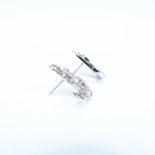 Chanel Silver Anchor Strass Cc Earrings Image 10