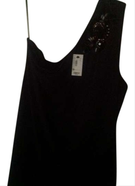 The Limited Black One Shoulder Sewn On Classy& Pretty Top Gray. Dark with jewel upper area,