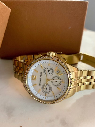 Michael Kors Gold studded watch Image 2
