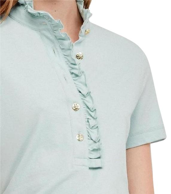 Item - Seaside Green New with Tag Lidia Ruffle Cotton Short Sleeve Mediu Button-down Top Size 8 (M)