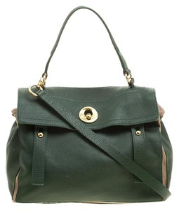 Saint Laurent Leather Tote in Green