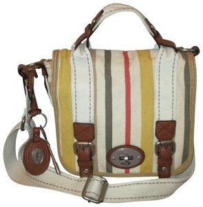 Fossil Large Organizer Canvas Onm003 Cross Body Bag