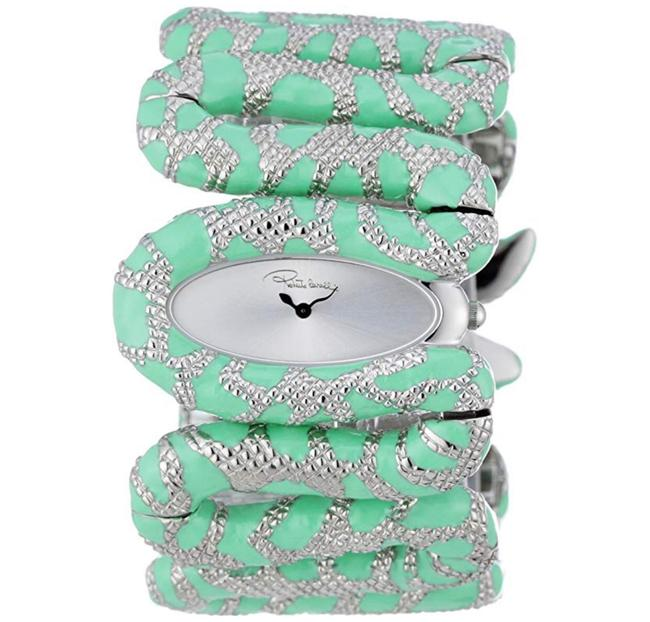 Item - Silver and Green Cleopatra Watch