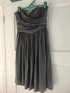 J.Crew Mercury Grey Acetate/Nylon/Spandex Jersey Arabelle In Liquid Jersey. Item #41875. Formal Bridesmaid/Mob Dress Size 6 (S)