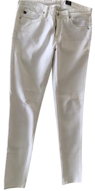Item - White Distressed The Legging Ankle Skinny Jeans Size 8 (M, 29, 30)