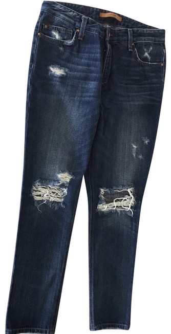 Item - Blue Distressed Collector's Edition The Billie Ankle Boyfriend Cut Jeans Size 4 (S, 27)