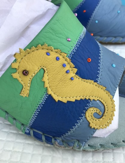 unknown blue & green Wedges Image 11
