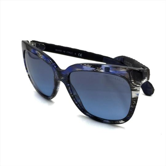 Chanel Brushed Square Denim Sunglasses 5343 1552/S2 Image 8