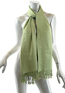 Pashmina PASHMINA Lime Green Cashmere Silk Blend Scarf Shawl Wrap with Fringe