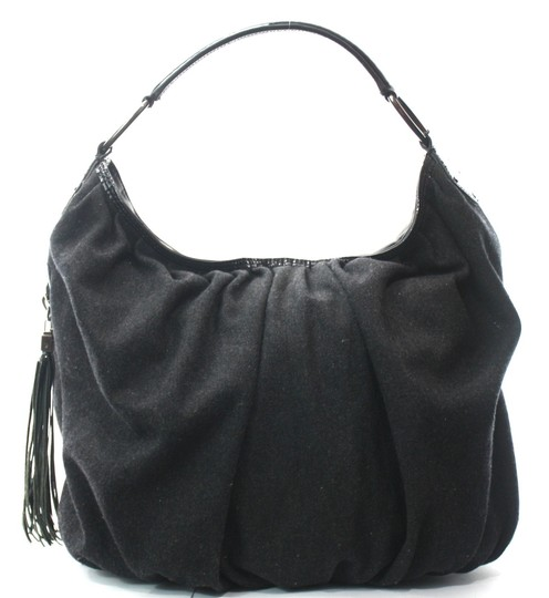 Preload https://img-static.tradesy.com/item/25488829/jill-stuart-charcoal-gray-cloth-and-patent-leather-half-moon-shoulder-bag-0-0-540-540.jpg