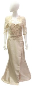 Reem Acra Embroidered Silk Mermaid Structured Dress