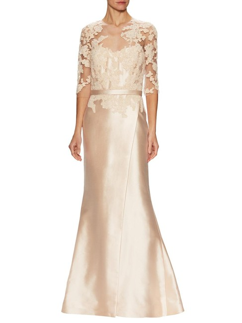 Reem Acra Embroidered Silk Mermaid Structured Dress Image 8