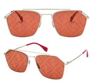Fendi FENDI M0022S - Y110L Logo on Lens Pilot Sunglasses
