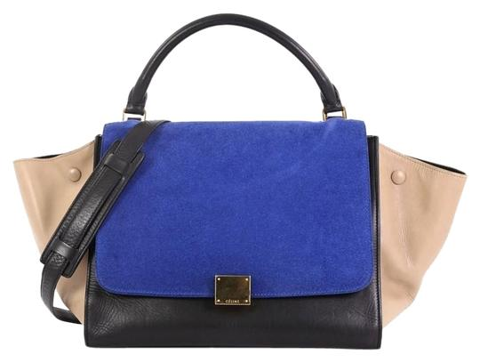 Preload https://img-static.tradesy.com/item/25488905/celine-trapeze-tricolor-handbag-medium-blue-suede-tote-0-1-540-540.jpg