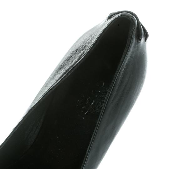 Gucci Leather Pointed Toe Black Pumps Image 6
