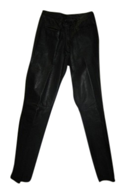 Preload https://img-static.tradesy.com/item/25489/black-hand-crafted-italian-leather-no-pockets-in-rear-skinny-pants-size-6-s-28-0-1-650-650.jpg