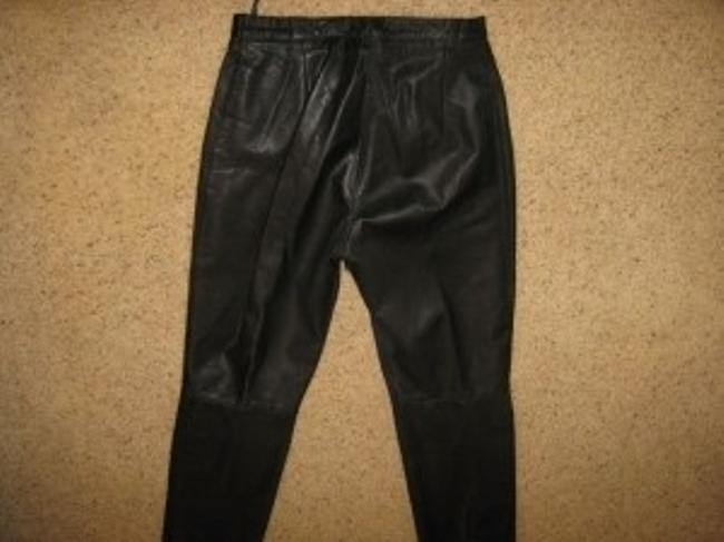Other Hand Crafted Italian Leather No Pockets In Rear Skinny Pants Black
