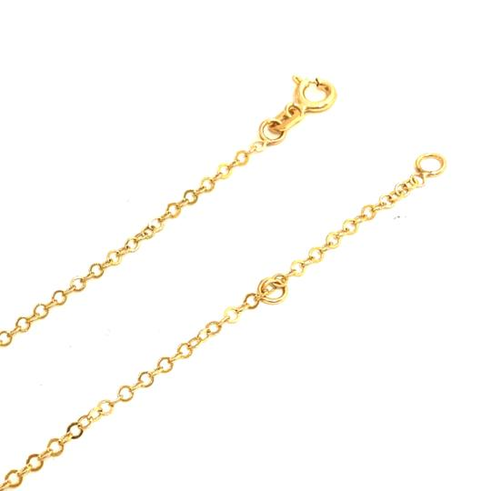 Other (987) 14K Yellow Gold CZ Dolphin Necklace Image 2