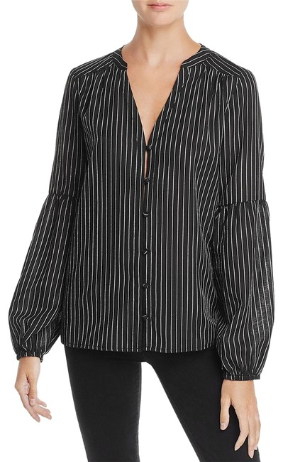 Preload https://img-static.tradesy.com/item/25489086/paige-black-white-stripe-emilia-bell-sleeve-blouse-size-4-s-0-1-650-650.jpg