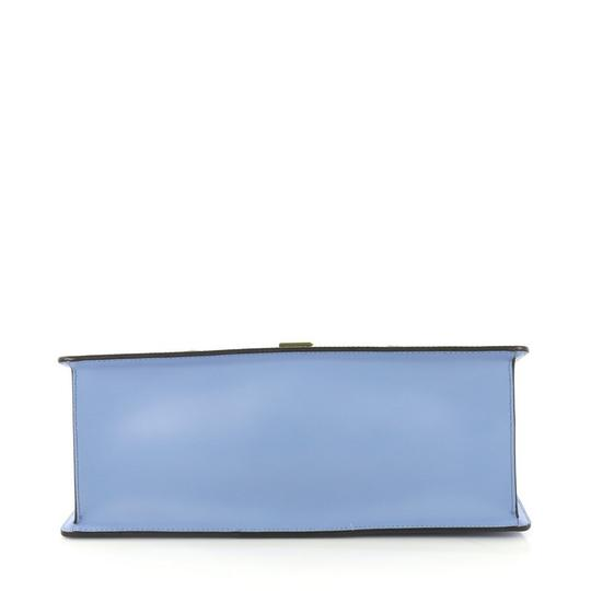 Gucci Sylvie Leather Satchel in Blue Image 4