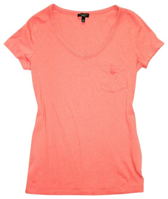 Preload https://img-static.tradesy.com/item/25489112/talbots-coral-sleeve-v-neck-knit-s-tee-shirt-size-6-s-0-1-650-650.jpg