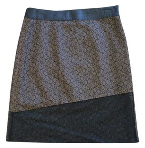 Parallel Skirt Black Lace with Nude Background