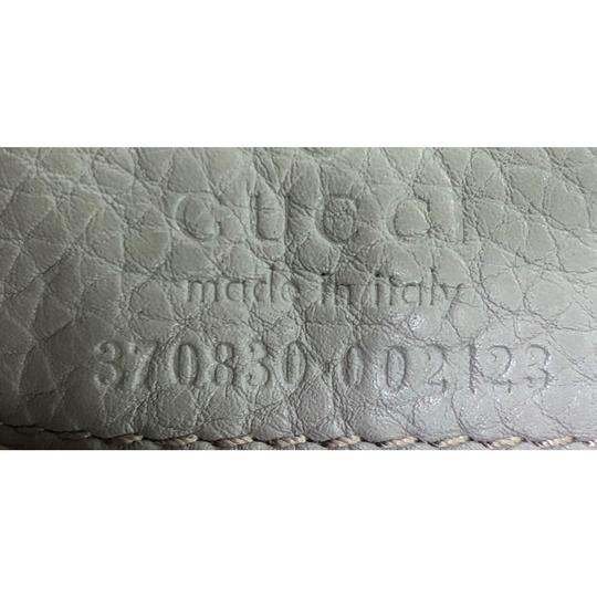 Gucci Leather Large Satchel in Gray Image 11
