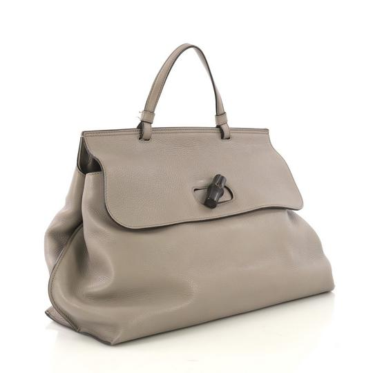 Gucci Leather Large Satchel in Gray Image 2