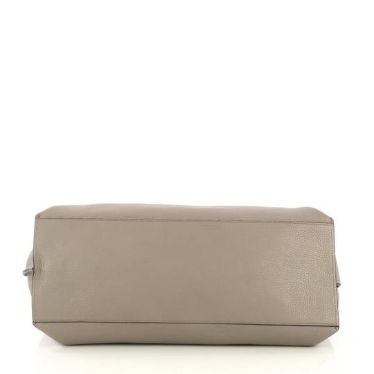 Gucci Leather Large Satchel in Gray Image 4