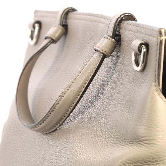 Gucci Leather Large Satchel in Gray Image 5