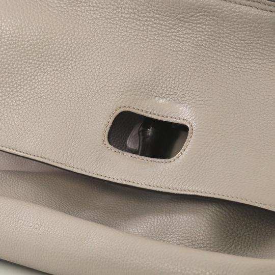 Gucci Leather Large Satchel in Gray Image 7