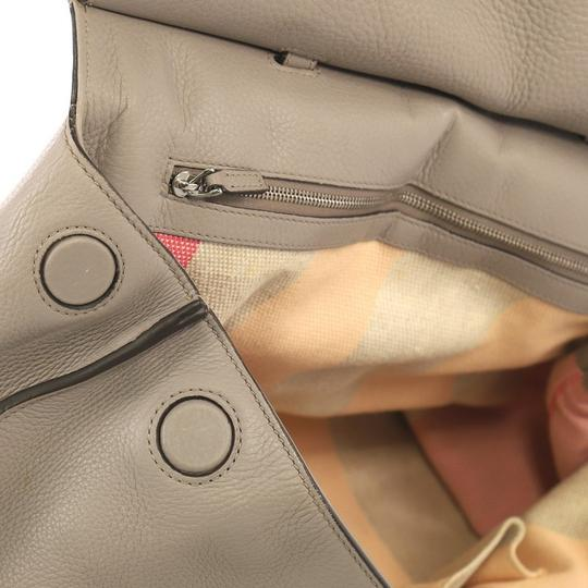 Gucci Leather Large Satchel in Gray Image 9