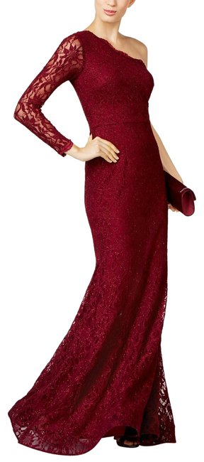 Preload https://img-static.tradesy.com/item/25489161/xscape-burgundy-one-shoulder-lace-mermaid-gown-long-formal-dress-size-4-s-0-1-650-650.jpg